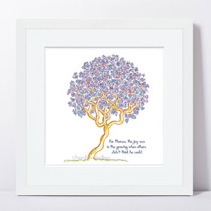"THOMAS | Framed Print Framed TREES HAVE FEELINGS 8""x8"" print + 1.5"" mat White"