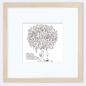 "WILHEMINA | Framed Print Framed TREES HAVE FEELINGS 8""x8"" print + 3.5"" mat Natural"