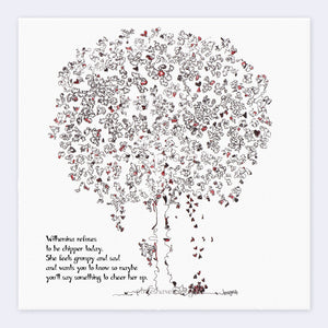 "WILHEMINA | Giclée Print Print TREES HAVE FEELINGS Deckled Edge 8""x8"""