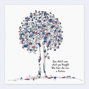 "ZOE | Giclée Print Print TREES HAVE FEELINGS Deckled Edge 8""x8"""