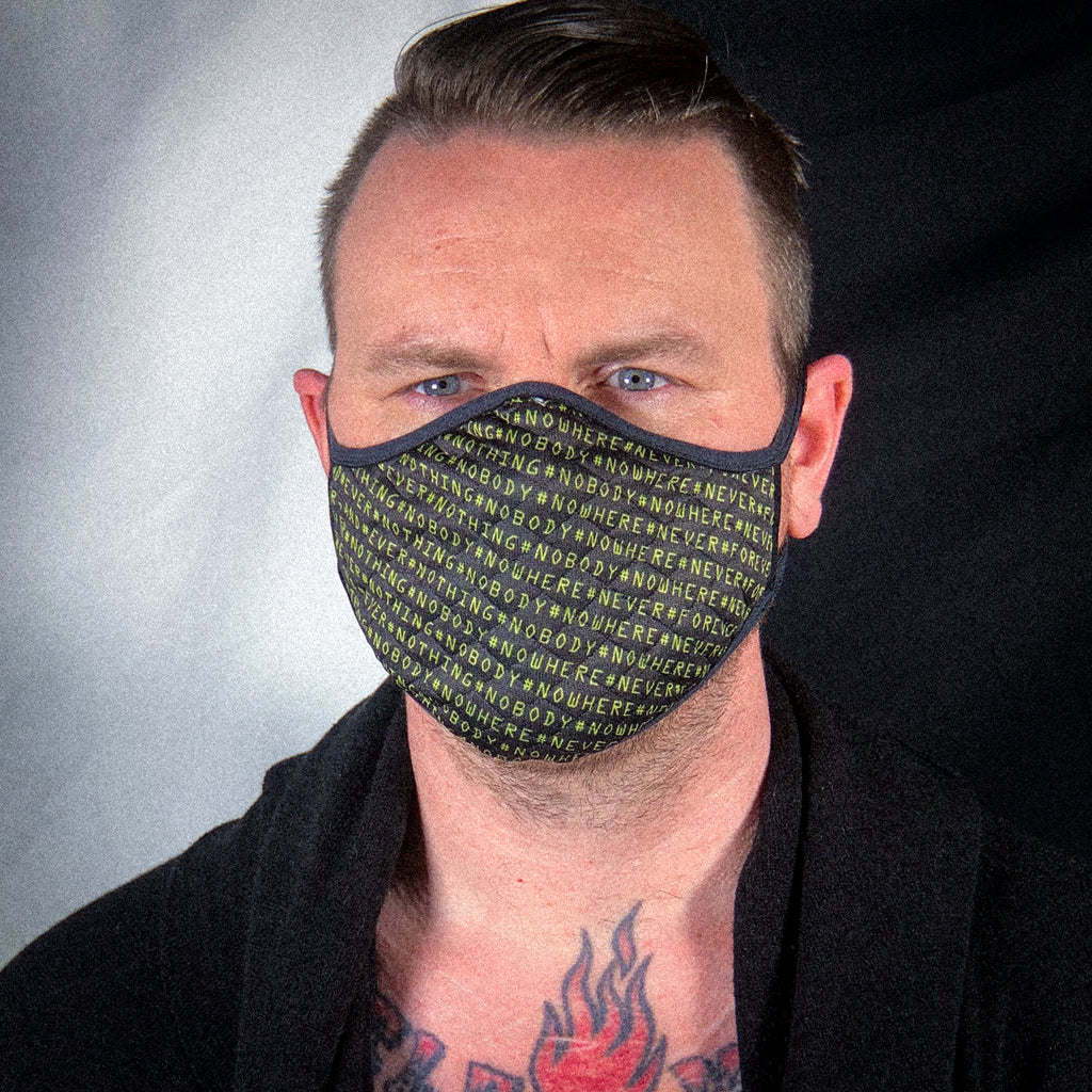 Cloth Facemask: #nothing #nowhere #never
