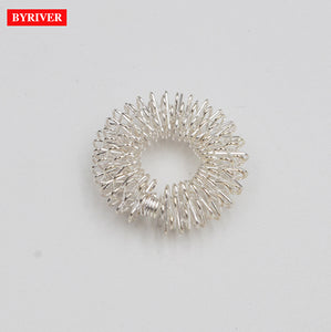 BYRIVER Acupuncture Finger Massager Tool Massage Ring Roller Small Funny Gift for Men Women
