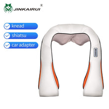Load image into Gallery viewer, JinKaiRui U Shape Electrical Shiatsu Massager Shawl Roller Heat Massage Electric Pain Neck and Shoulder Multi-function Massagem