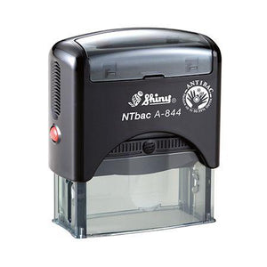 self inking stamp Ready to use, with built-in refill pad.