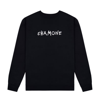 Shamone Basic Logo Sweater: Black | Shamone | Streetwear Clothing Melbourne