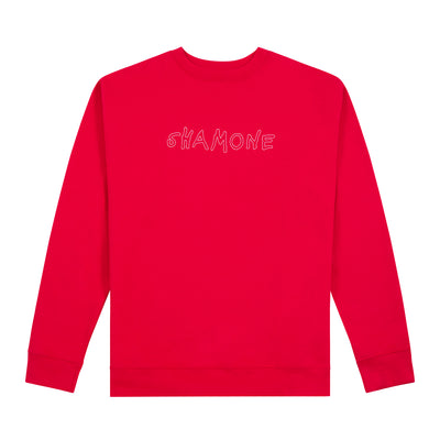 Shamone Outline Sweater: Red | Shamone | Streetwear Clothing Melbourne