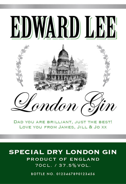 Personalised Gin - ClothesLabels.UK