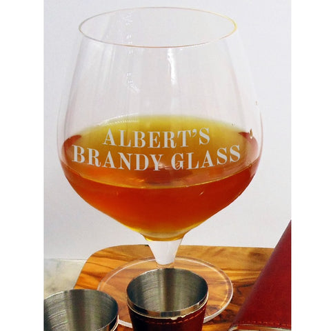Lead Free Crystal Personalised 51cl Brandy Glass - ClothesLabels.UK