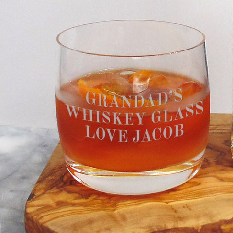 Lead Free Crystal Personalised 33cl Whisky Tumbler - ClothesLabels.UK