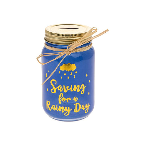 Glam Jam Rainy Day Savings Jar - ClothesLabels.UK