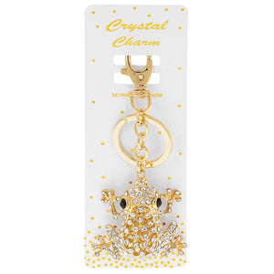 Frog Crystal Charm Keyring Bag Charm - ClothesLabels.UK