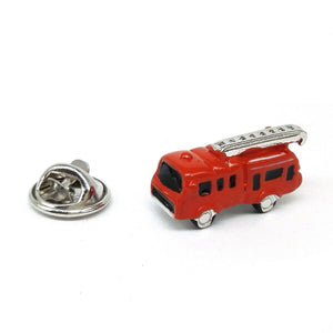 3D Red Fire Engine Lapel Pin Badge - ClothesLabels.UK