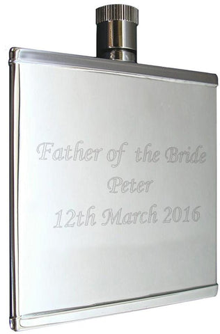 Stainless Steel 2oz Hipflask - ClothesLabels.UK