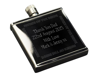 Wedding Party Stainless Steel 2oz Hipflask - ClothesLabels.UK