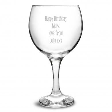 Personalised Gin Balloon Glass - ClothesLabels.UK