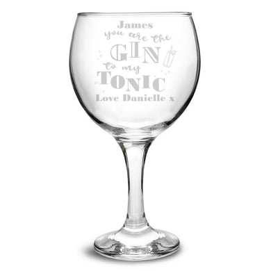 Gin To My Tonic Gin Balloon Glass - ClothesLabels.UK