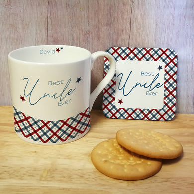 Best Ever Checked Large Balmoral Mug - ClothesLabels.UK