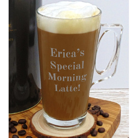 Personalised Latte Glass - ClothesLabels.UK
