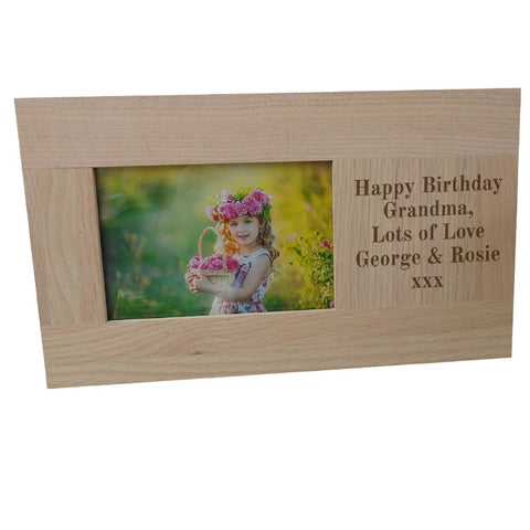 Personalised Oak Photo Frame