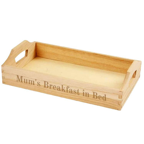 Personalised Wooden Tray - ClothesLabels.UK