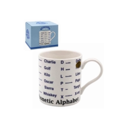 Morse Phonetic Alphabet Tea Coffee Educational Novelty Mug Gift Boxed Fine China - FREE UK Delivery - ClothesLabels.UK