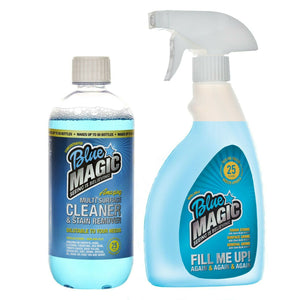 BLUE MAGIC – SUPER CONCENTRATED MULTI SURFACE CLEANER - 50 Eco Refill Set - ClothesLabels.UK