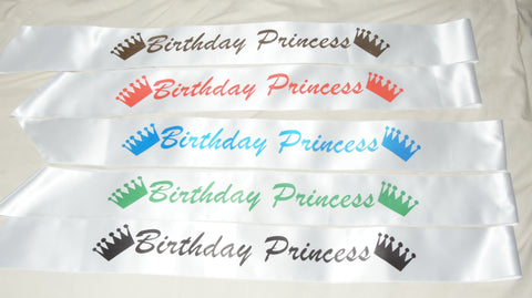 Birthday Princess Sash - ClothesLabels.UK