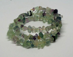 Fluorite Memory Wire Bracelet - ClothesLabels.UK