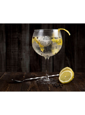PERSONALISED BALLOON GIN GLASS - ClothesLabels.UK