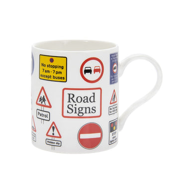 Road Signs Tea Coffee Educational Novelty Mug Gift Boxed Fine China - FREE UK Delivery - ClothesLabels.UK