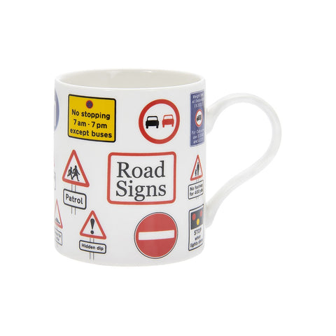 Road Signs Tea Coffee Educational Novelty Mug Gift Boxed Fine China - ClothesLabels.UK