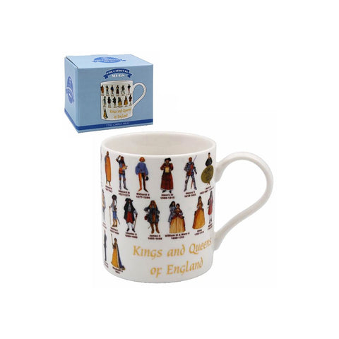 Kings and Queens Tea Coffee Educational Novelty Mug Gift Boxed Fine China - ClothesLabels.UK