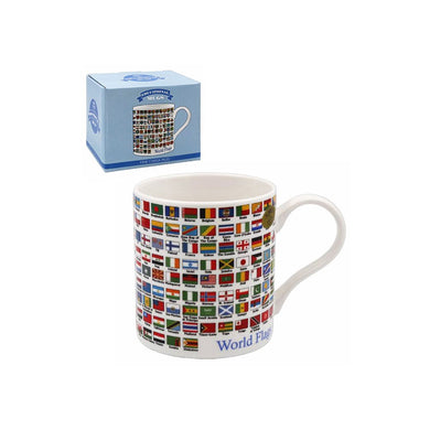 Flags Tea Coffee Educational Novelty Mug Gift Boxed Fine China - FREE UK Delivery - ClothesLabels.UK