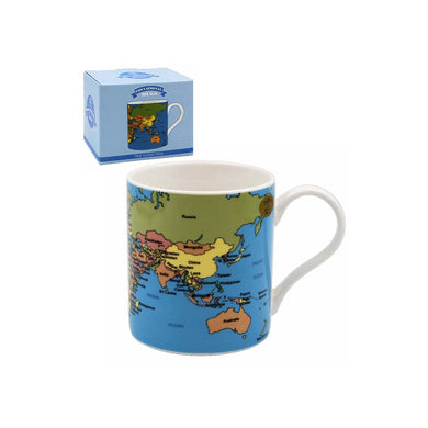 World Map Tea Coffee Educational Novelty Mug Gift Boxed Fine China - FREE UK Delivery - ClothesLabels.UK