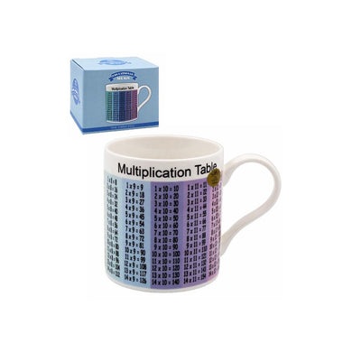 Multiplication Tables Tea Coffee Educational Novelty Mug Gift Boxed Fine China - FREE UK Delivery - ClothesLabels.UK