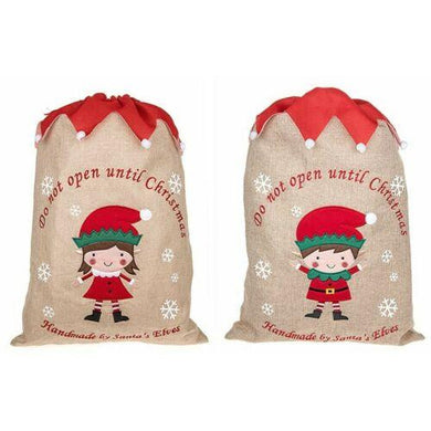 Large Santa Surprise Elves Christmas Sack