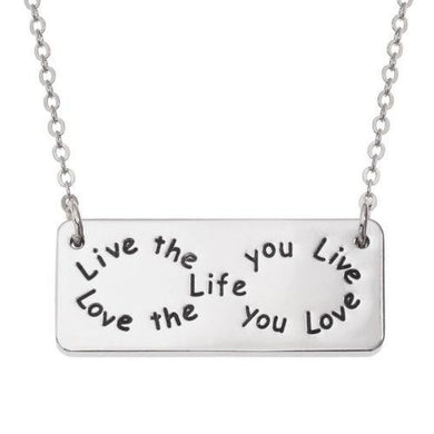 Live the life you love, Love the life you live Necklace - ClothesLabels.UK