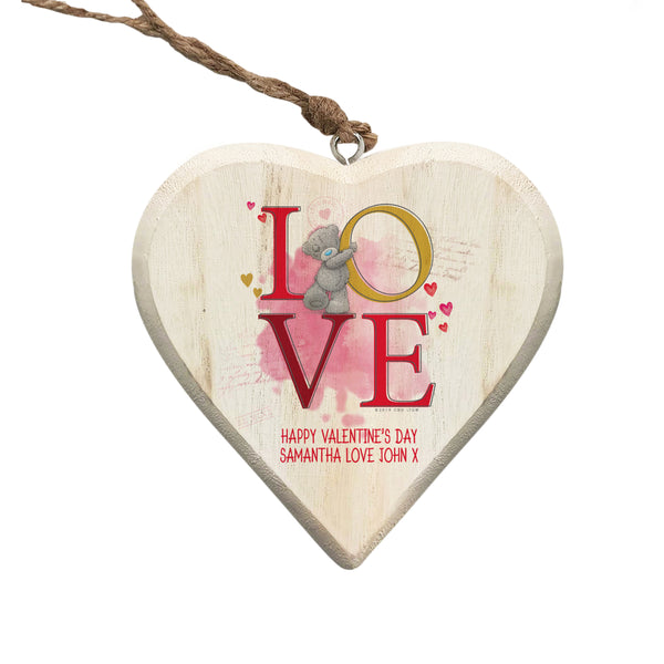 Me To You LOVE Hanging Wooden Heart - ClothesLabels.UK