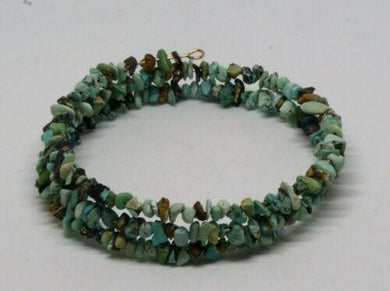 Turquoise Memory Wire Bracelet