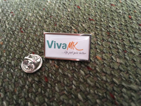 VivaMK Distributor's Lapel Pin Badge - ClothesLabels.UK