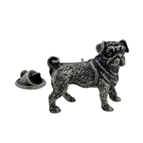 Pug Pewter Lapel Pin Badge - ClothesLabels.UK