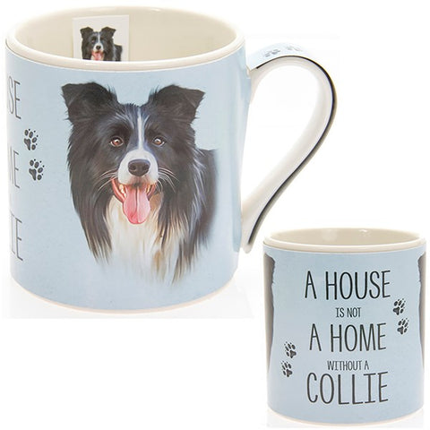 Collie House & Home Fine China Mug