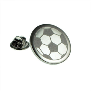 Engraved Football Lapel Pin Badge - ClothesLabels.UK
