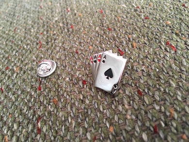 Four Aces Lapel or Tie Pin Badge