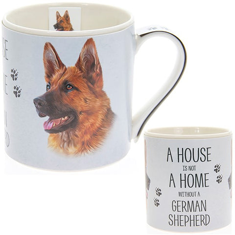 German Sheperd House & Home Fine China Mug