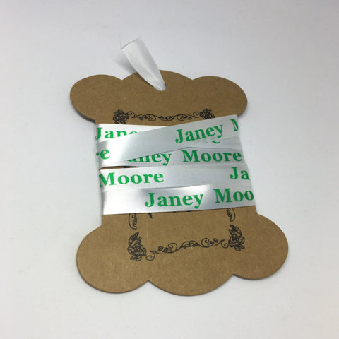 Waterproof Printed Green Sew-On Clothes Name Tags Labels For School Uniform Nursery Etc - ClothesLabels.UK