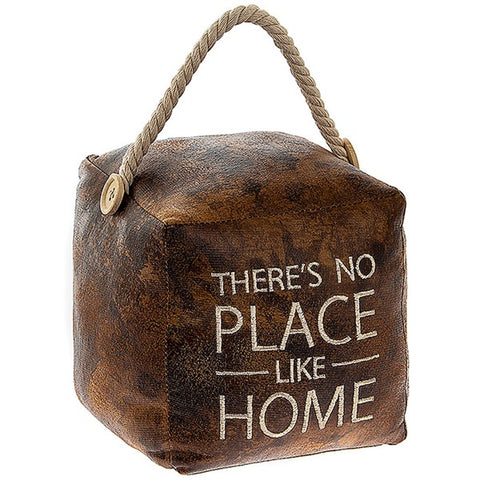 Antique Look Square Doorstop There Is No Place Like Home - ClothesLabels.UK