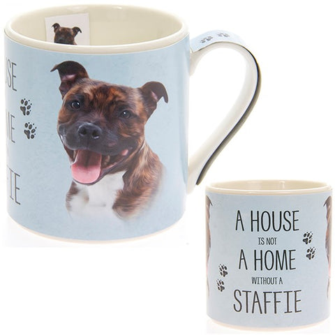 Staffie House & Home Fine China Mug