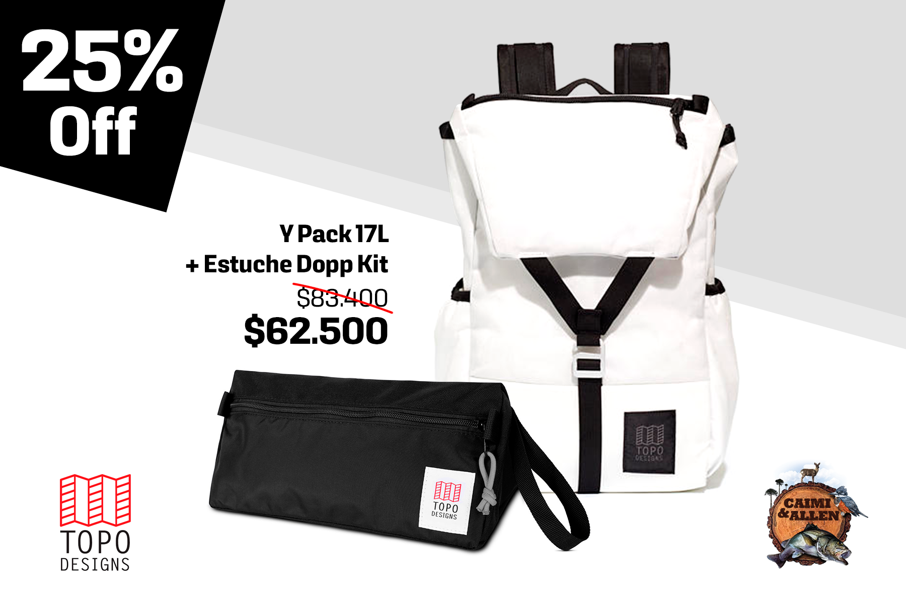 Y-Pack White+ Dopp Kit