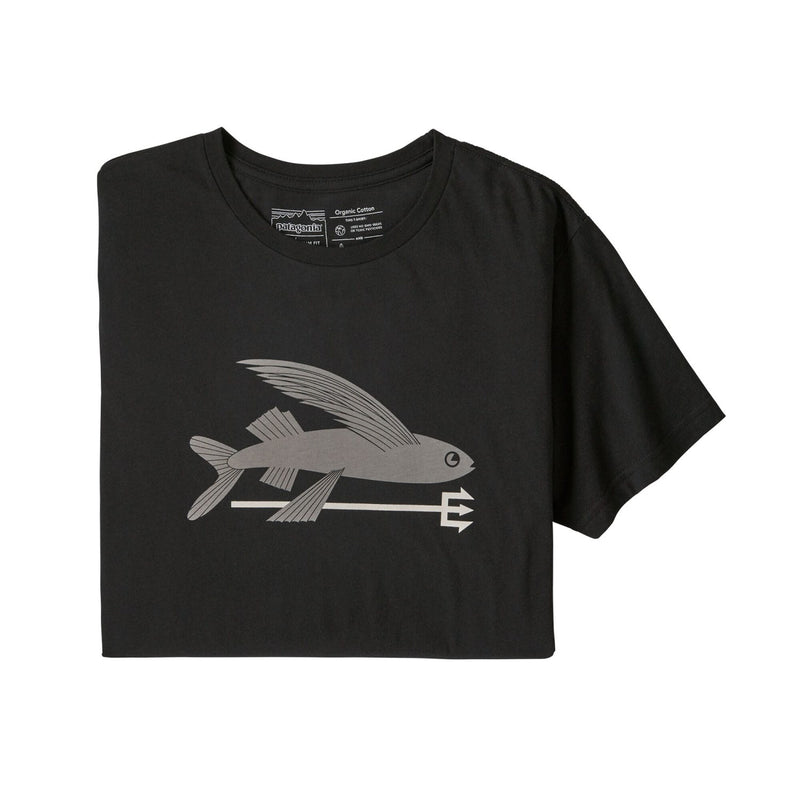M's Flying Fish Organic Shirt Black